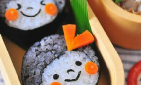 Girl Sushi Using White Rice Roll Inside Mixed Rice | Make ..