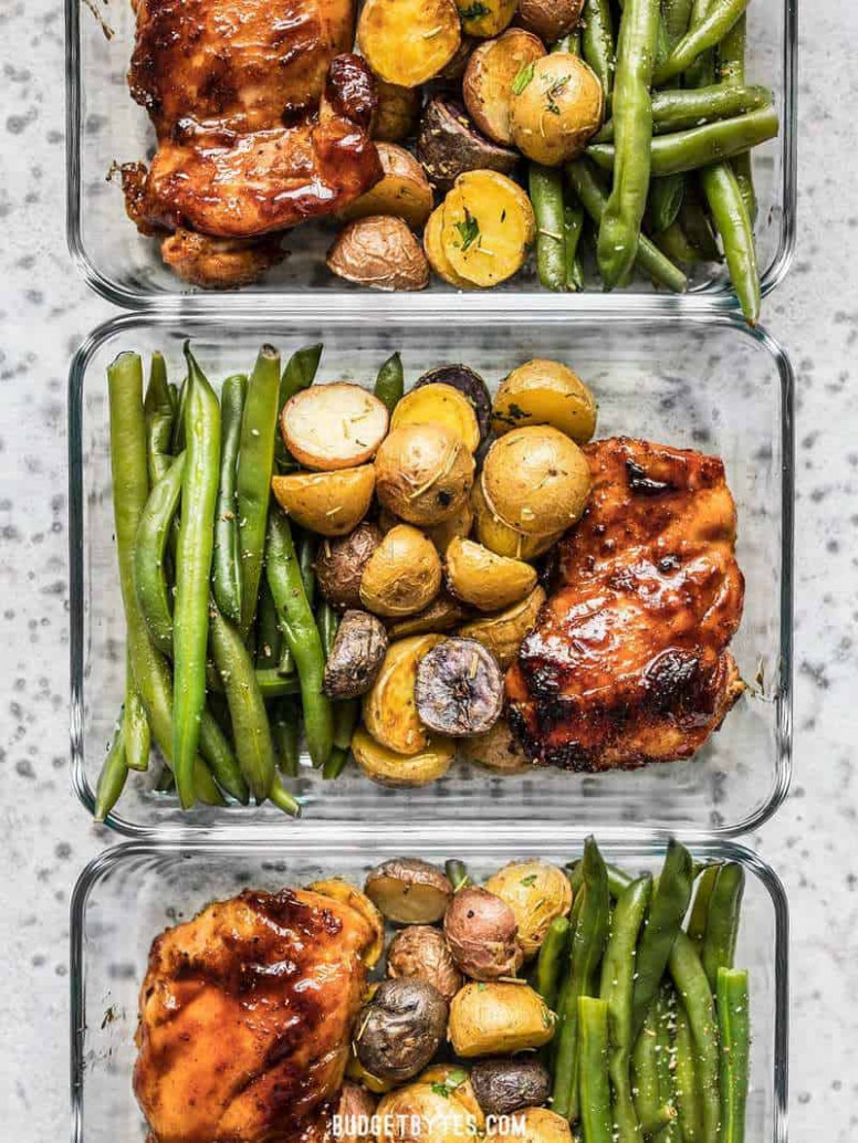 Glazed Chicken Meal Prep - Meat and Potatoes Reinvented ..