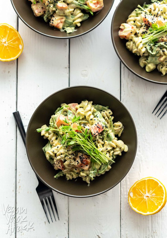 Gluten-free Avocado Tahini Pasta - food recipes easy healthy