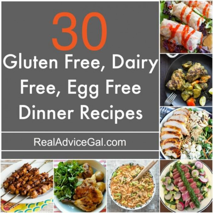 Gluten Free Dairy Free Egg Free Recipes - Real Advice Gal - dairy free recipes dinner