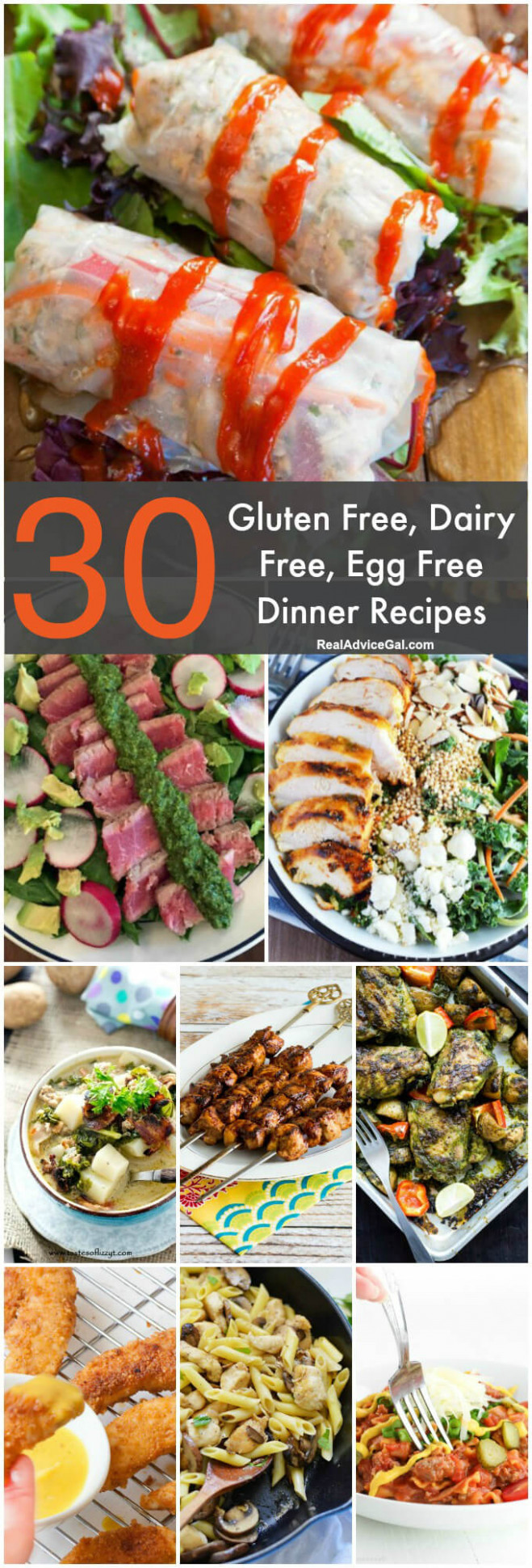Gluten Free Dairy Free Egg Free Recipes - Real Advice Gal - Healthy Recipes Dairy Free