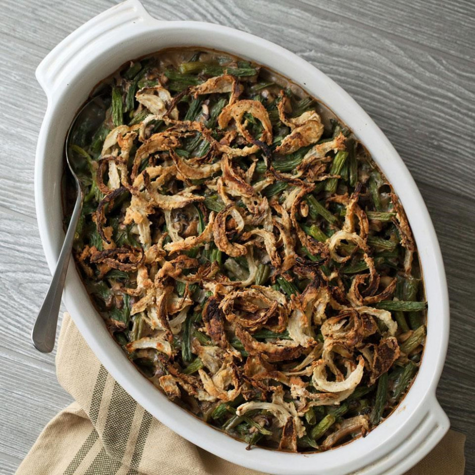 Gluten-Free Green Bean Casserole Recipe - EatingWell - recipes green bean casserole healthy