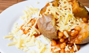 Gluten Free Jacket Potato With Baked Beans And Cheese ..