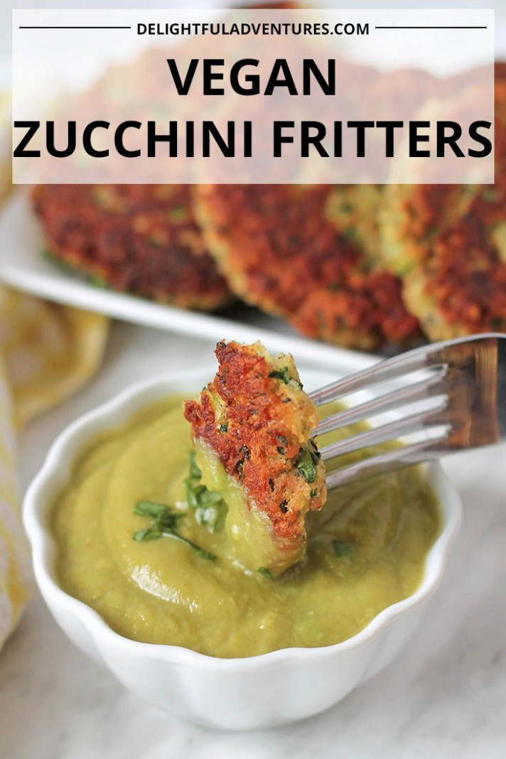 Gluten Free Zucchini Fritters - yummy vegan recipes dinner