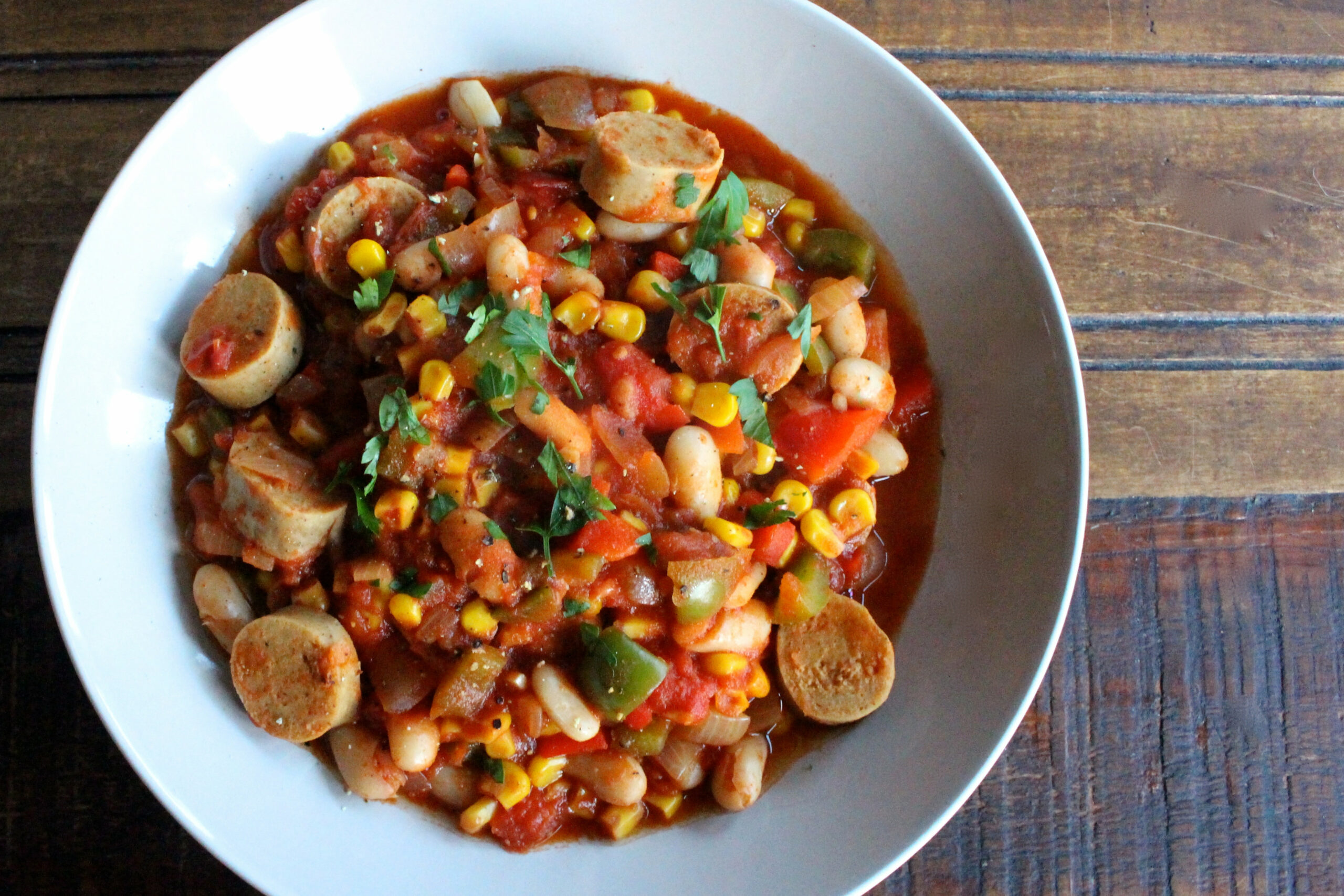 Gluten & Meat Free Sausage & Bean Casserole - quorn recipes chicken pieces