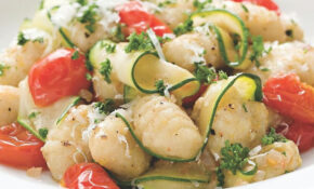 Gnocchi With Zucchini Ribbons & Parsley Brown Butter ..
