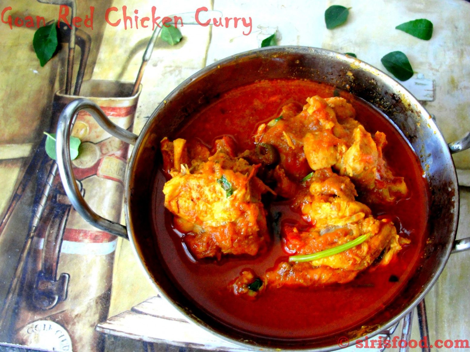 Goa Red Chicken Curry | Celebrity Chef Recipes - Sirisfood - chicken recipes goan