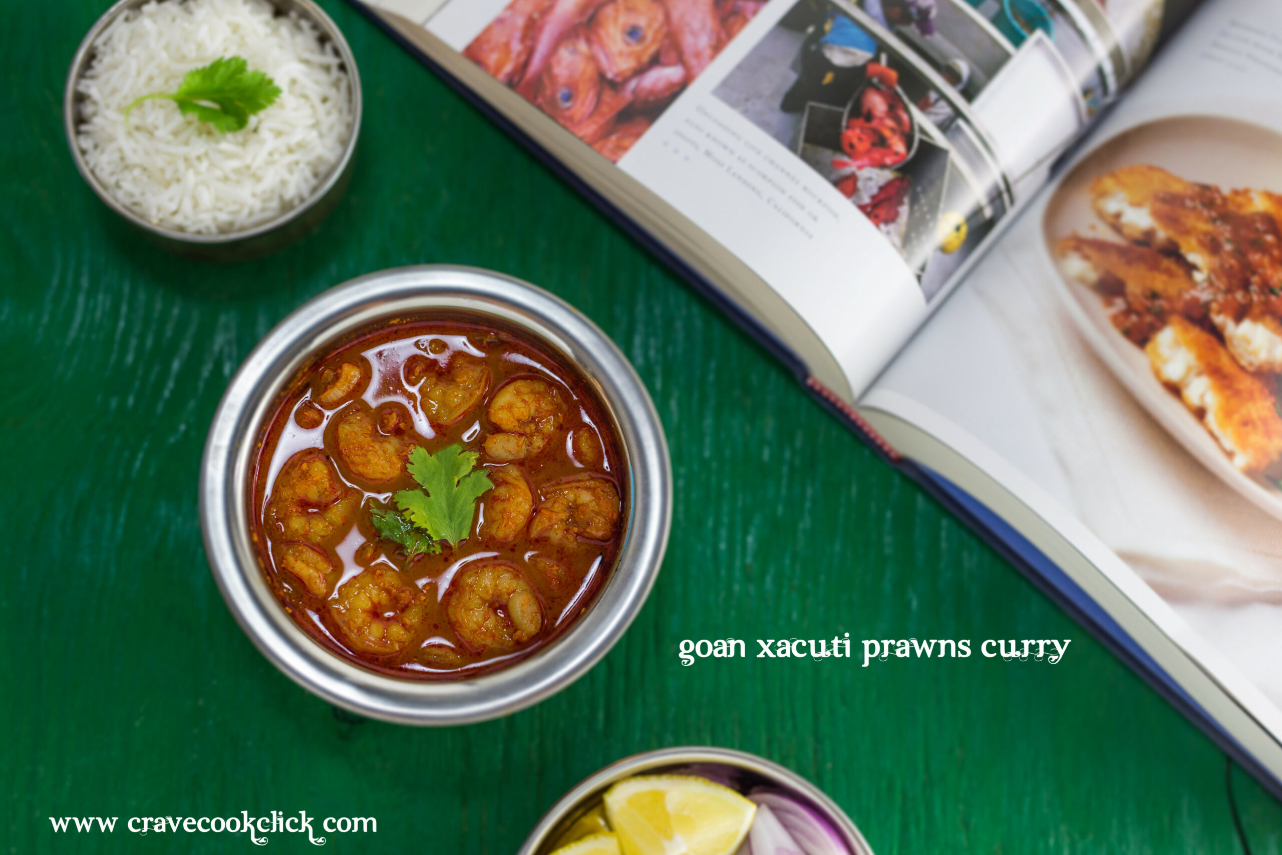 Goan Xacuti Prawns Curry Recipe | Crave Cook Click - chicken xacuti recipe video