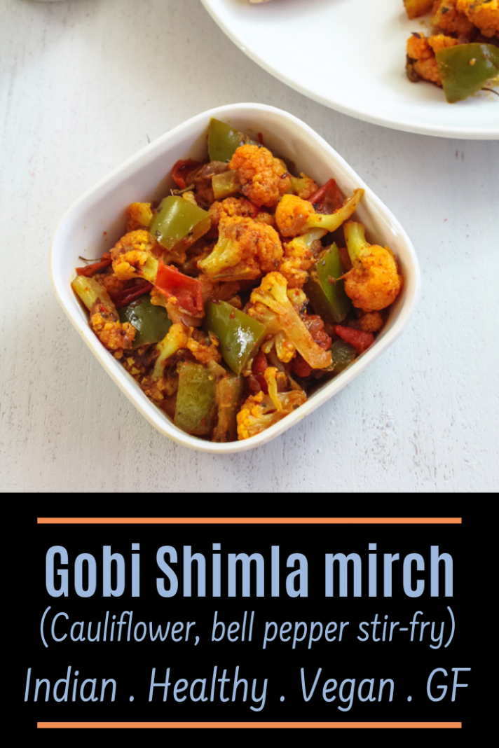 Gobi shimla mirch sabzi recipe (Capsicum Cauliflower Sabzi) - recipes of sabji for dinner