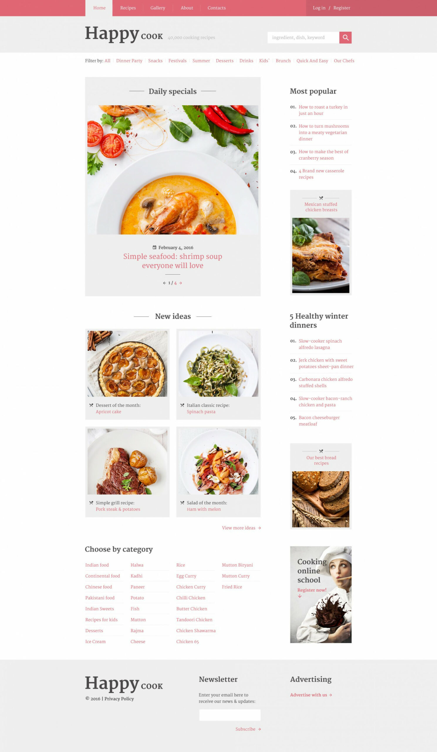 GoodFood - Restaurant Clean Multipage HTML11 Website Template ..