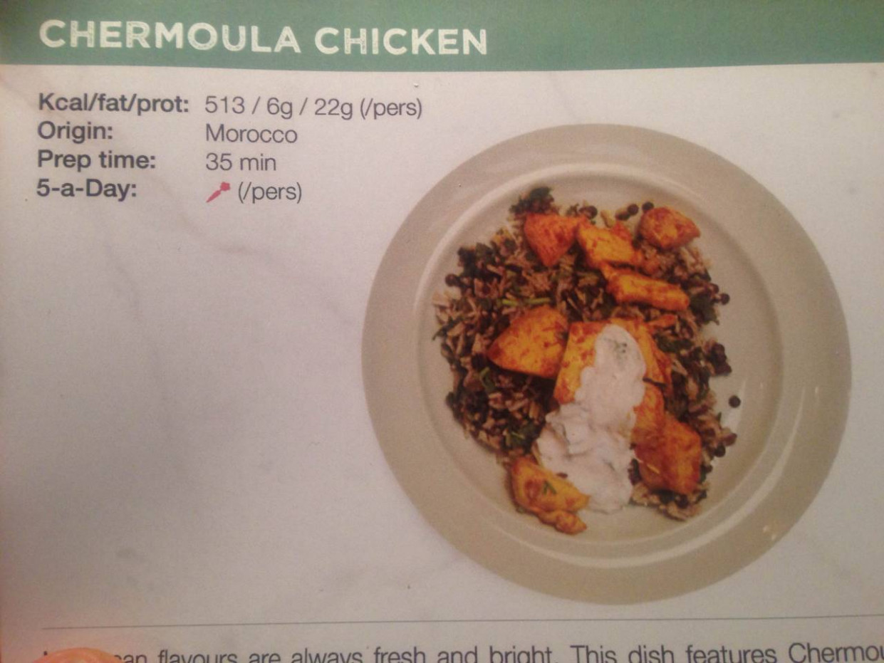 Gousto & Jamie Oliver, done by an idiot — Chermoula Chicken ..