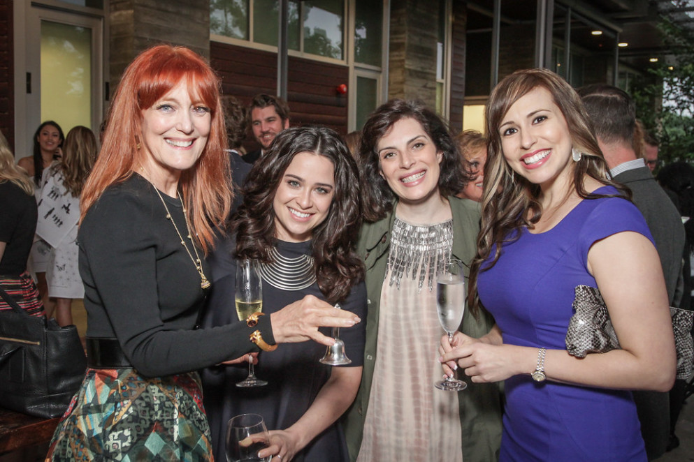 Gracie Cavnar with Guests at Delicious Alchemy: The Banquet - recipes dinner guests