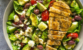 Greek Avocado & Grilled Chicken Salad With Greek Dressing – Avocado Recipes Chicken