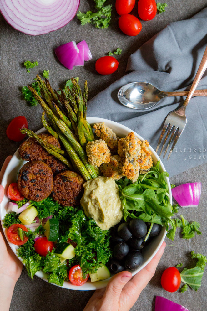 Greek Bhuddha Bowl (Plus Fried Okra) - Falafel Recipes Dinner