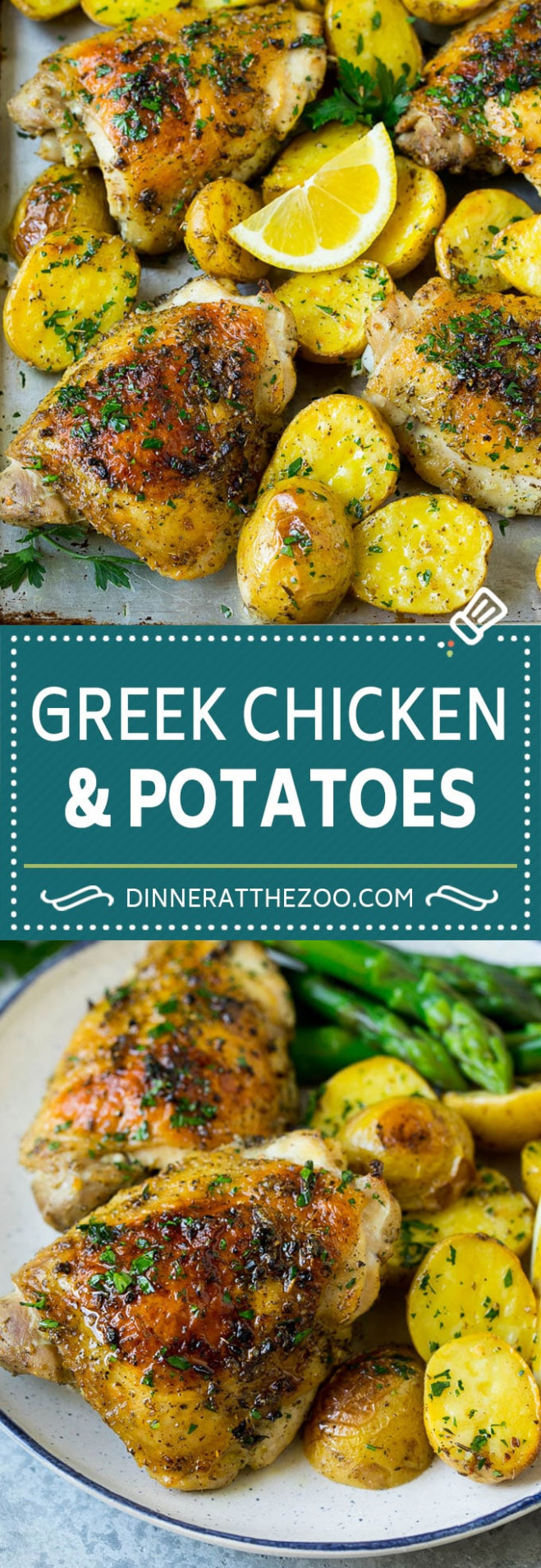 Greek Chicken And Potatoes - Dinner At The Zoo - Dinner At The Zoo Chicken Recipes