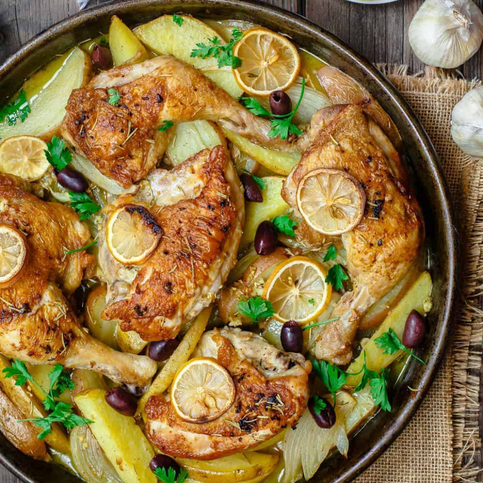 greek chicken and potatoes - recipes for dinner with chicken
