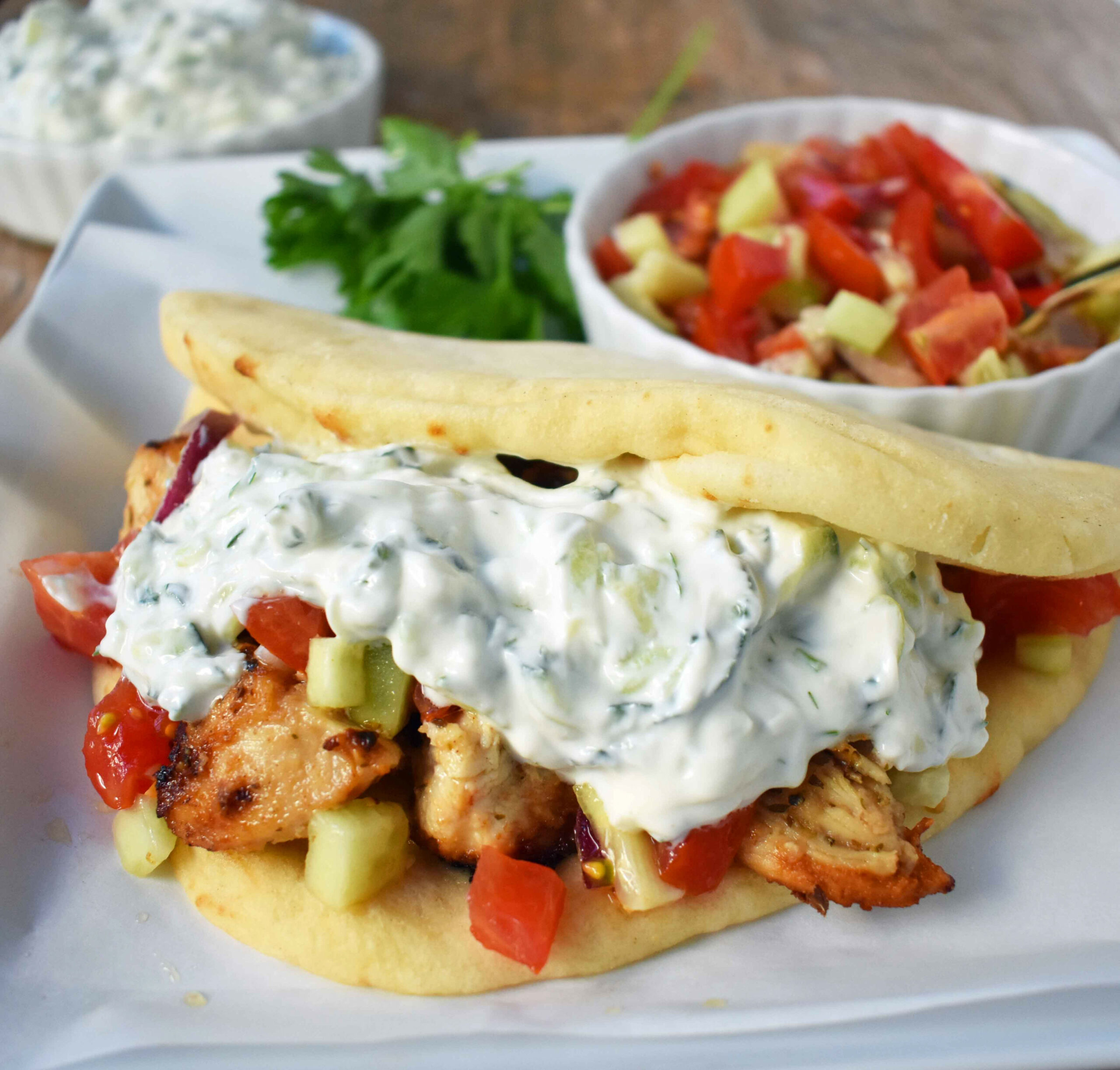 Greek Chicken Gyros With Tzatziki Sauce - Healthy Recipes Greek