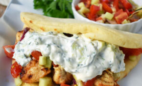 Greek Chicken Gyros With Tzatziki Sauce – Traditional Greek Food Recipes