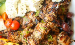 Greek Chicken Kabobs – Greek Recipes Chicken
