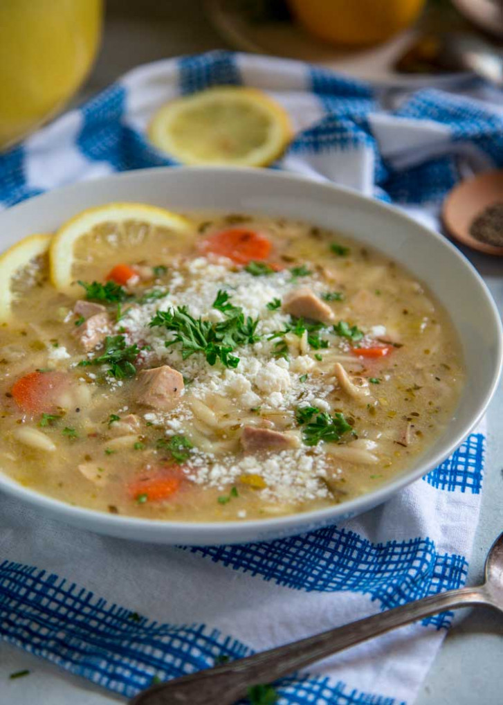 Greek Chicken Orzo Soup - Kevin Is Cooking - greek soup recipes vegetarian
