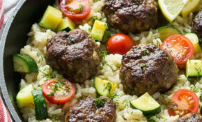 Greek Meatballs With Lemon Dill Rice – Dinner At The Zoo – Meat Recipes Dinner