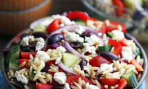 Greek Orzo Salad With Lemon Vinaigrette – Greek Vegetarian Recipes