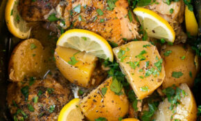 Greek Slow Cooker Lemon Chicken And Potatoes – Cooking Classy – Chicken Recipes Greek