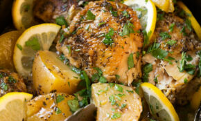 Greek Slow Cooker Lemon Chicken And Potatoes – Recipes Lemon Chicken