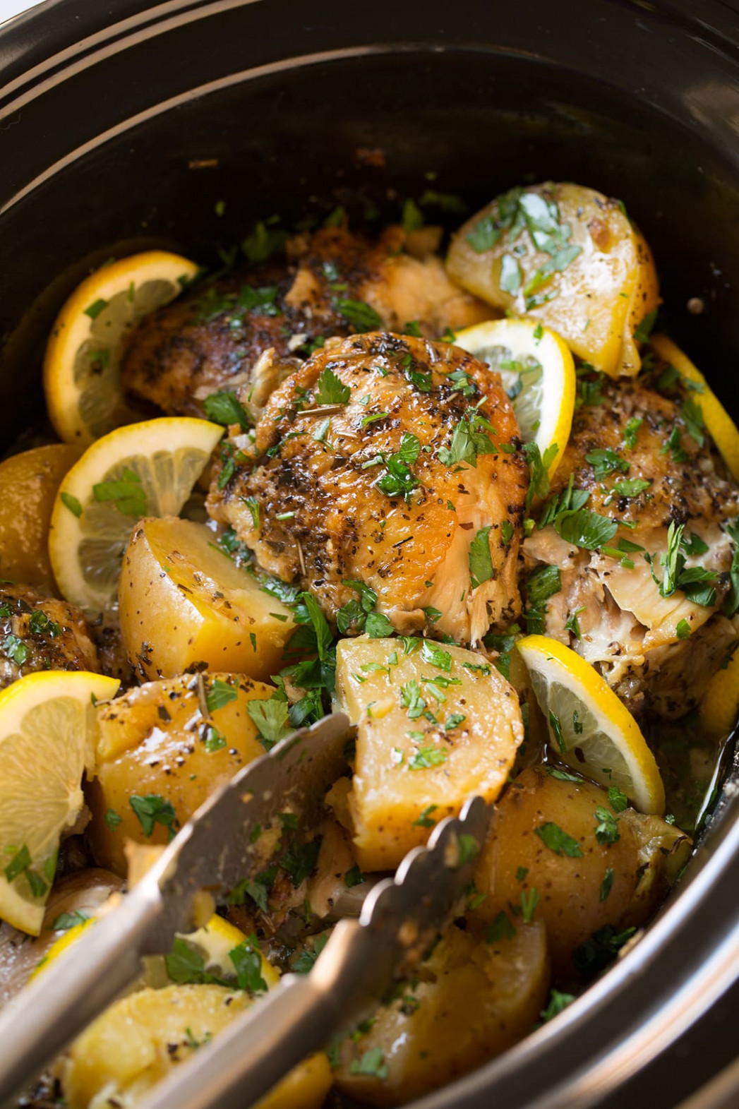 Greek Slow Cooker Lemon Chicken And Potatoes - Recipes Lemon Chicken