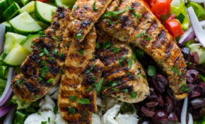 Greek Style Grilled Chicken Salad – Greek Recipes Chicken