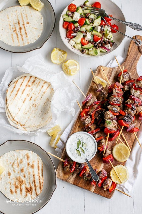 Greek Style Lamb Skewers with a Greek Yogurt Sauce-5 ..