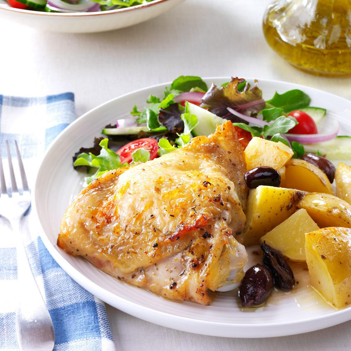 Greek-Style Lemon-Garlic Chicken - food recipes greek