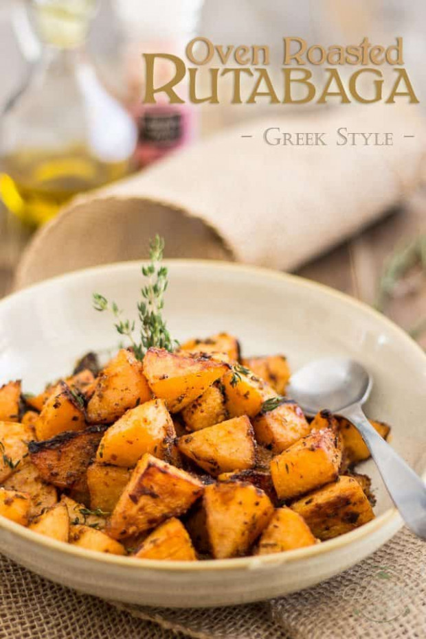 Greek Style Oven Roasted Rutabaga - healthy recipes oven