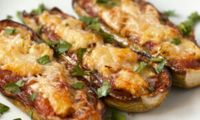 Greek Vegetarian: Baked Stuffed White Zucchinis ..
