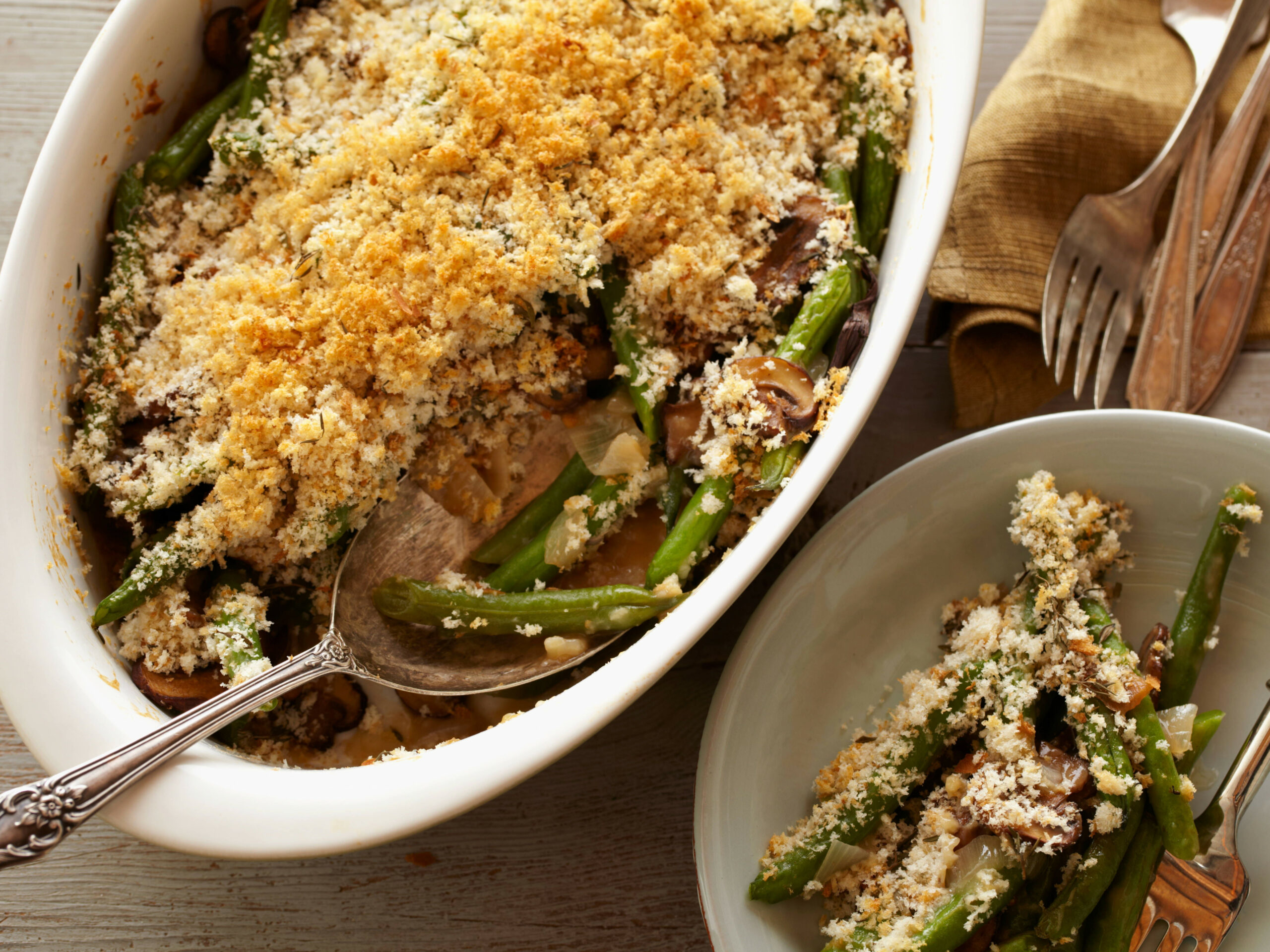 Green Bean Casserole - Slimmed - food network healthy recipes