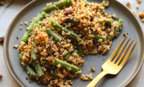 Green Bean, Cranberry, And Quinoa Salad – From My Bowl – Gluten Free Vegetarian Xmas Recipes