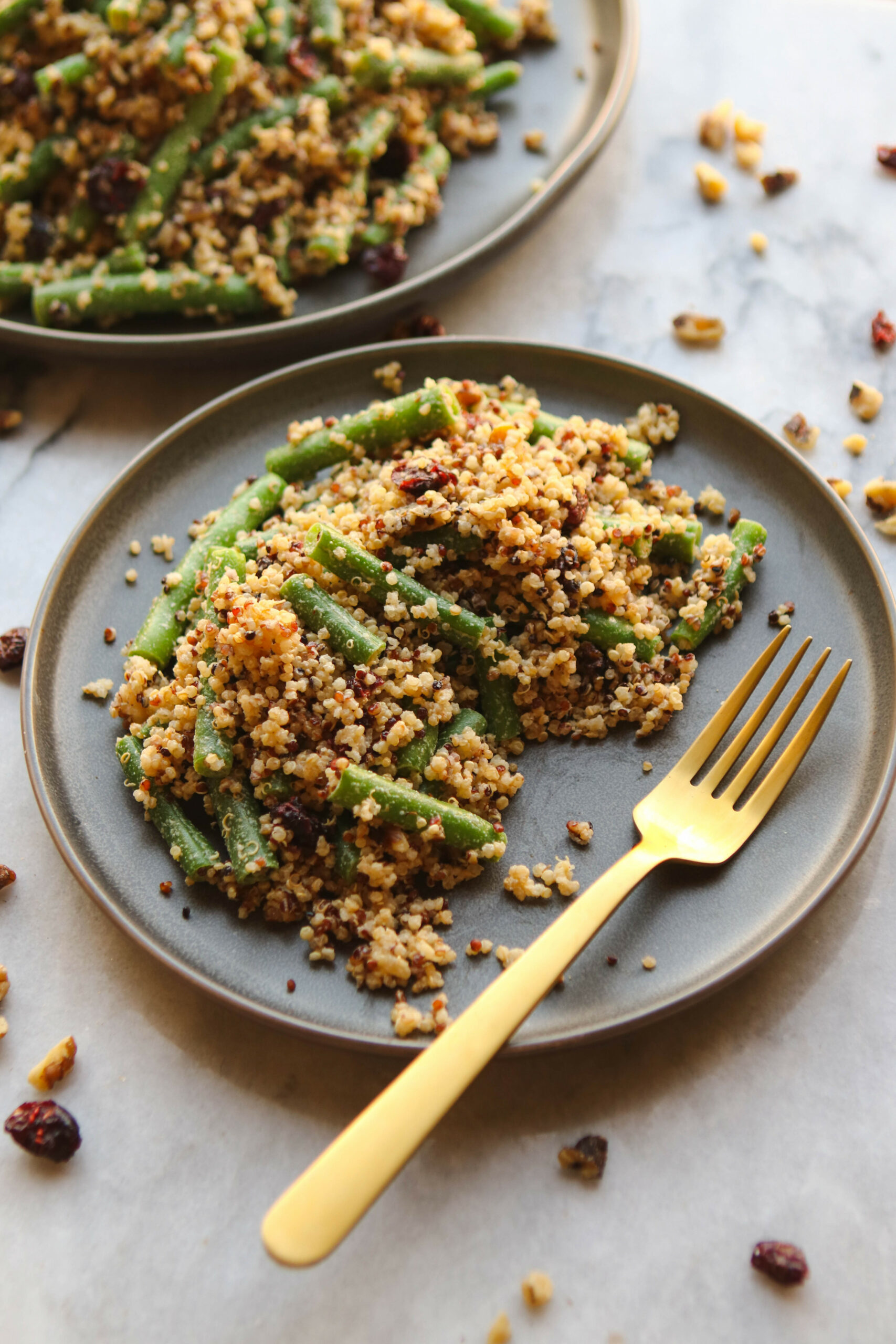 Green Bean, Cranberry, And Quinoa Salad - From My Bowl - Gluten Free Vegetarian Xmas Recipes