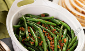 Green Beans Bacon, Image & Photo (Free Trial) | Bigstock – Recipes Christmas Dinner Side Dish