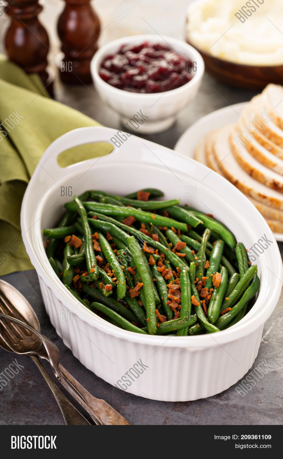 Green Beans Bacon, Image & Photo (Free Trial) | Bigstock - recipes christmas dinner side dish
