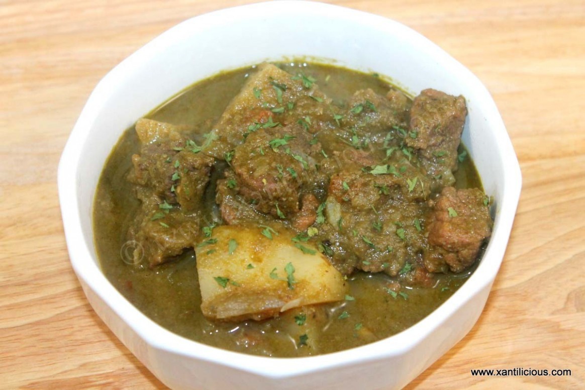 Green Beef Curry with Potatoes - chicken recipes goan style