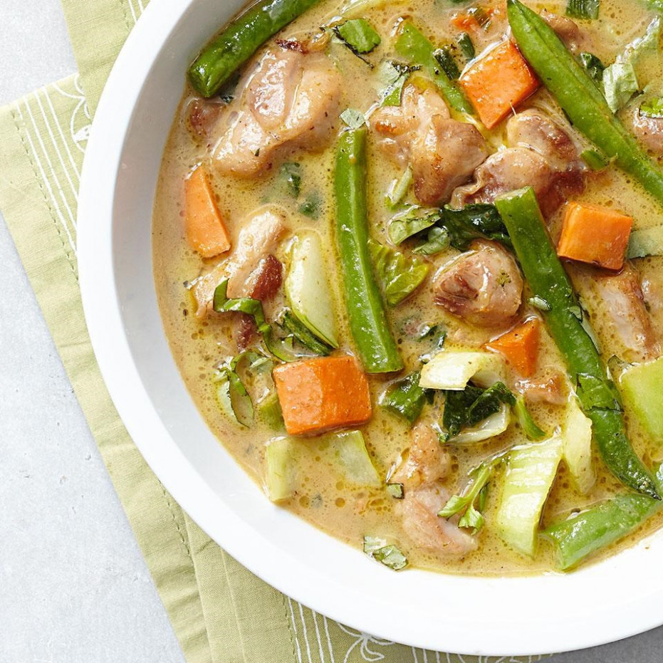 Green Chicken Curry Recipe - EatingWell - curry recipes chicken