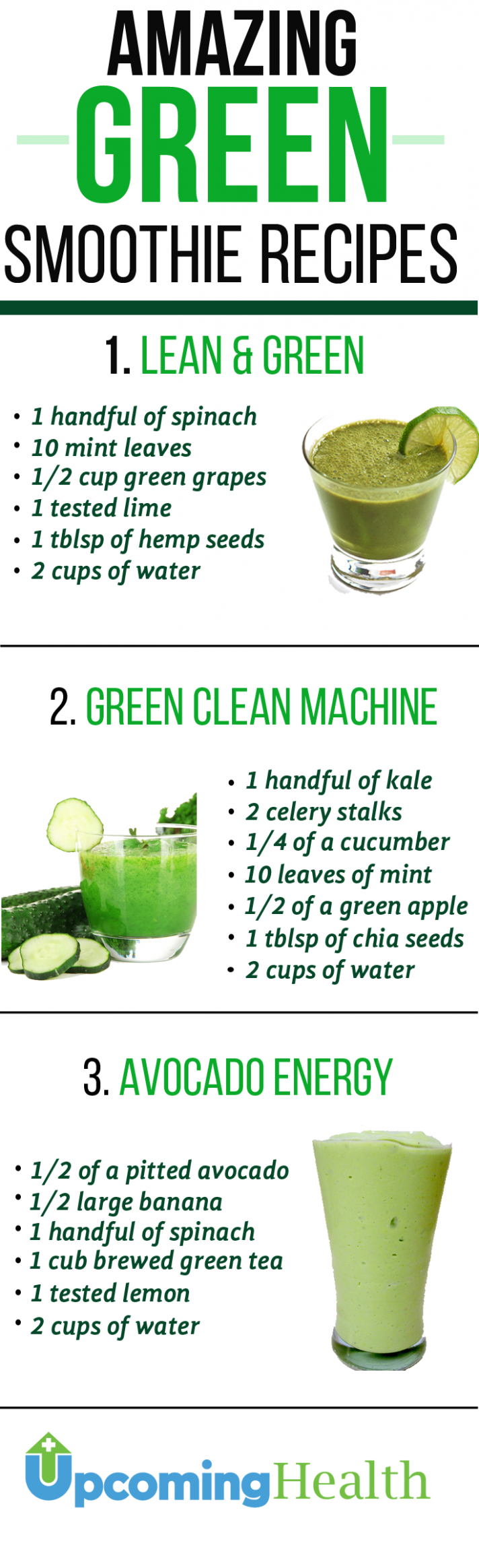 Green Smoothies Will Revolutionize Your Health - smoothie recipes that are healthy