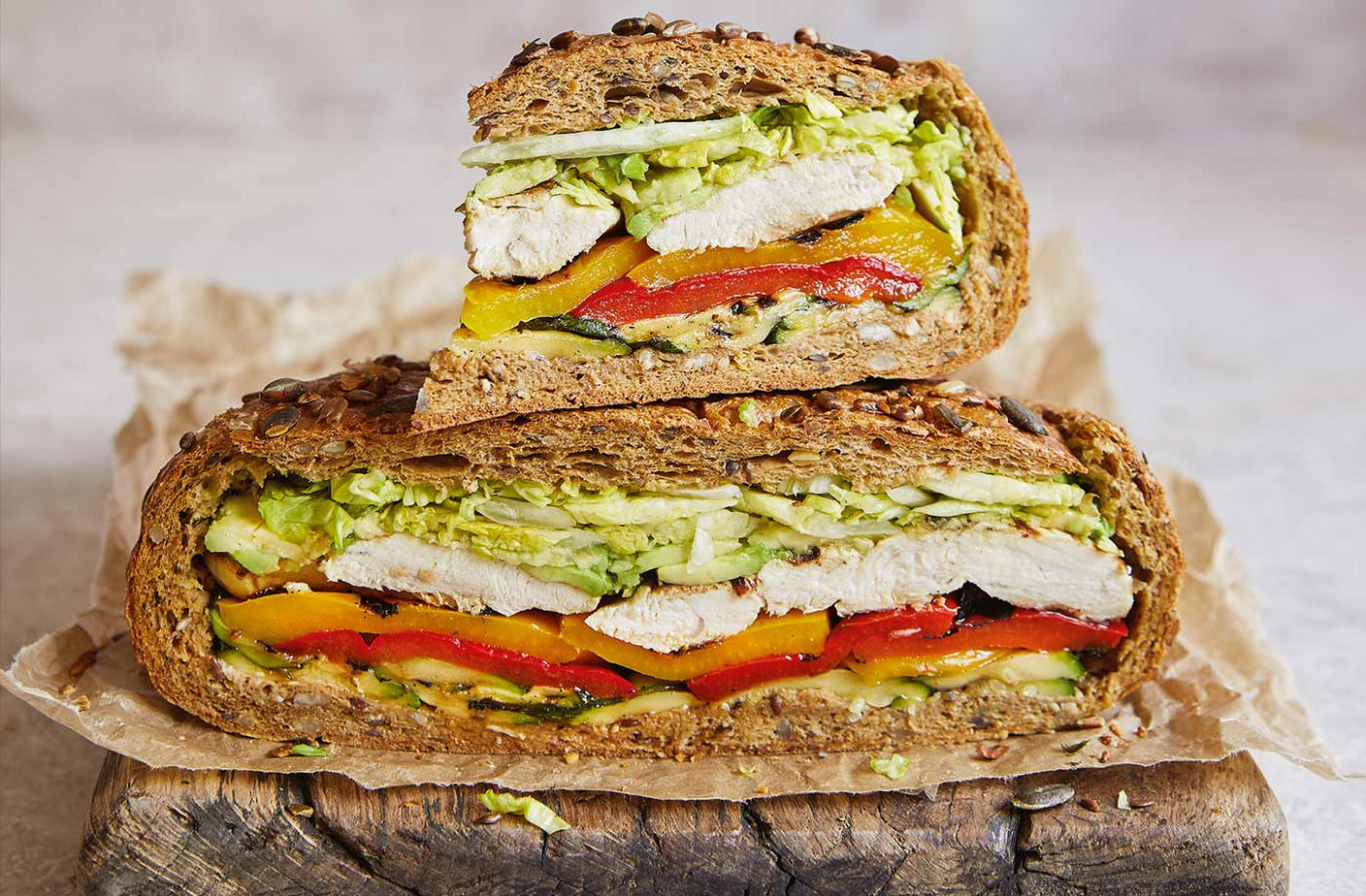 Griddled Chicken And Avo Sarnie - Healthy Recipes Jamie Oliver