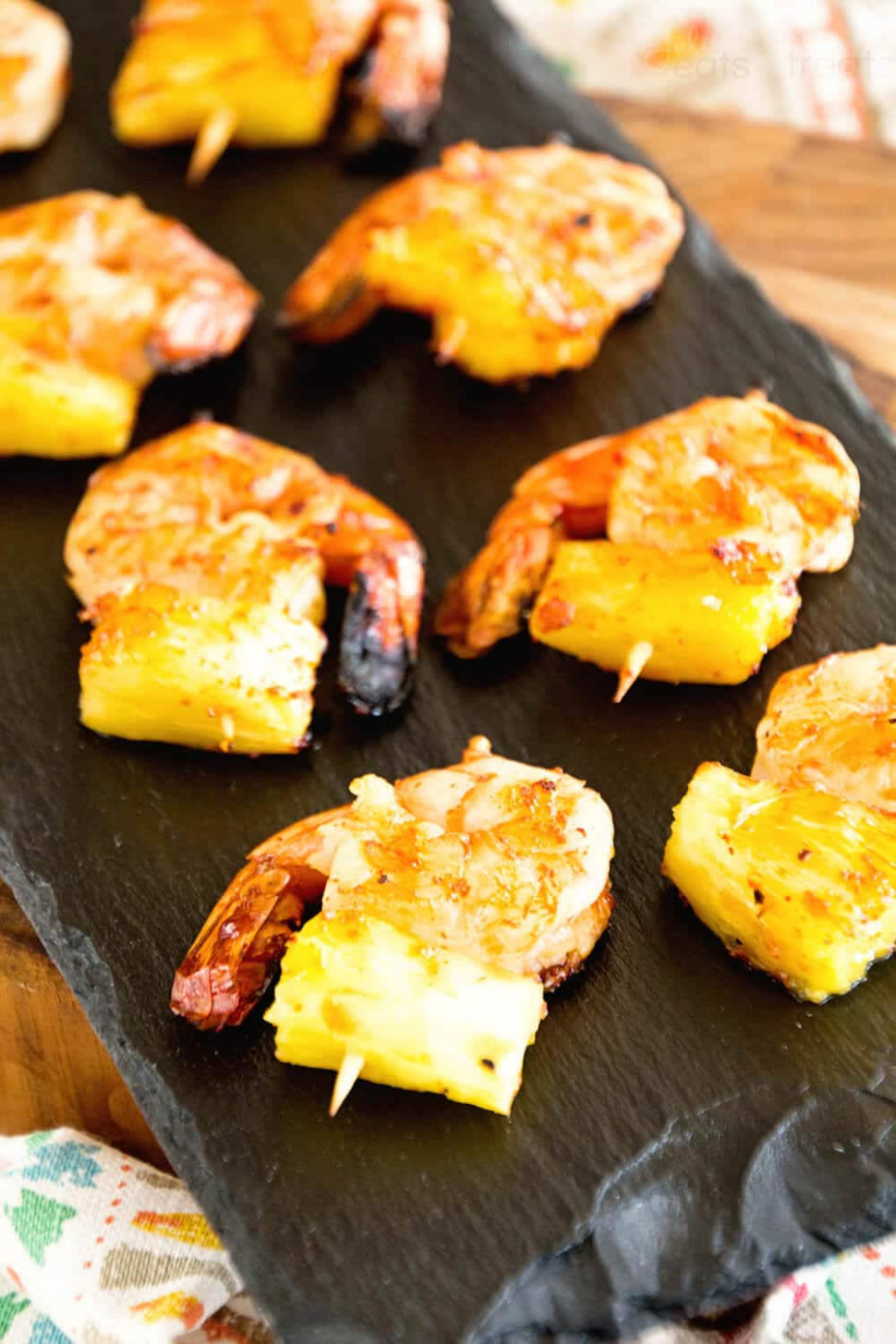 Grilled BBQ Pineapple Shrimp Bites - Julie's Eats & Treats - quick crock pot recipes chicken