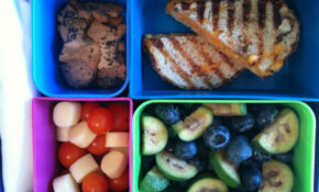 Grilled Cheese Panini, Blueberries, Guava, Seed Crackers, Cheese Cubes & Cherry Tomatoes – Toddler Food Recipes