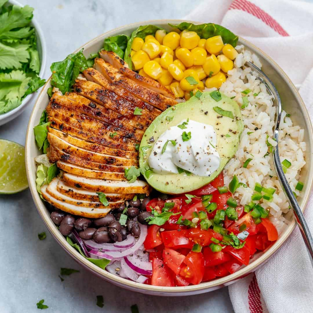 Grilled Chicken Burrito Bowl - healthy recipes hashtags