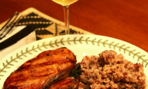 Grilled Chicken, Garden Vegetable Medley And Red Rice Pilaf – Simple Rice Recipes For Dinner