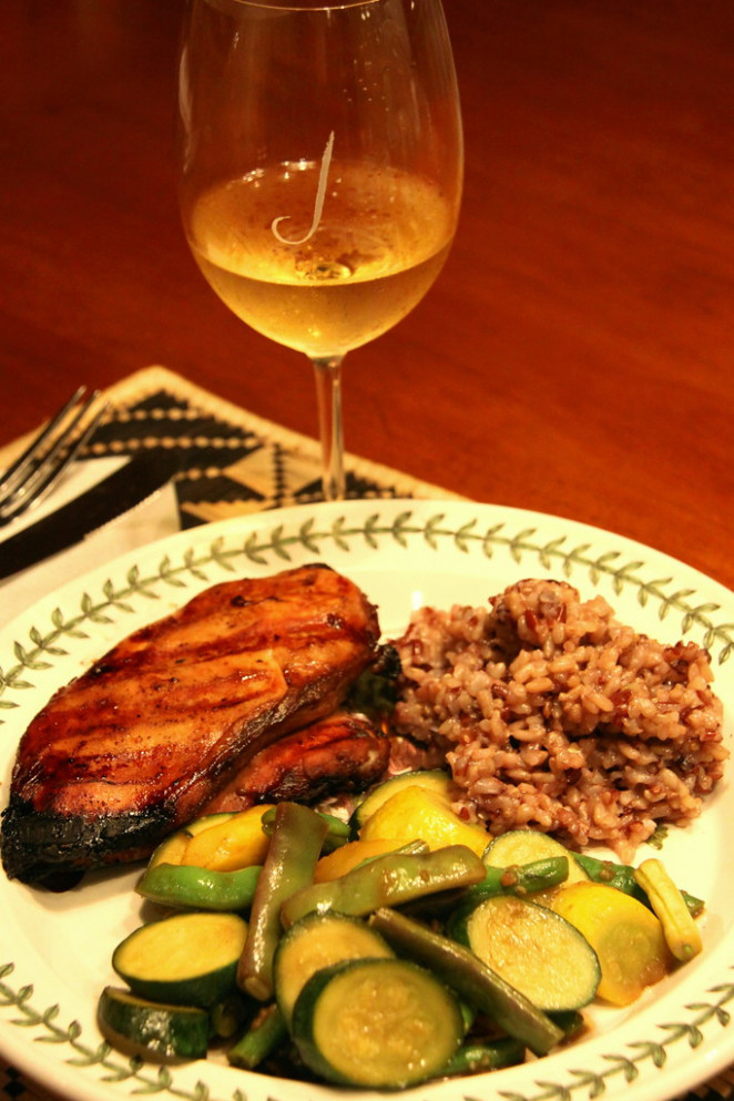 Grilled Chicken, Garden Vegetable Medley and Red Rice Pilaf - simple rice recipes for dinner