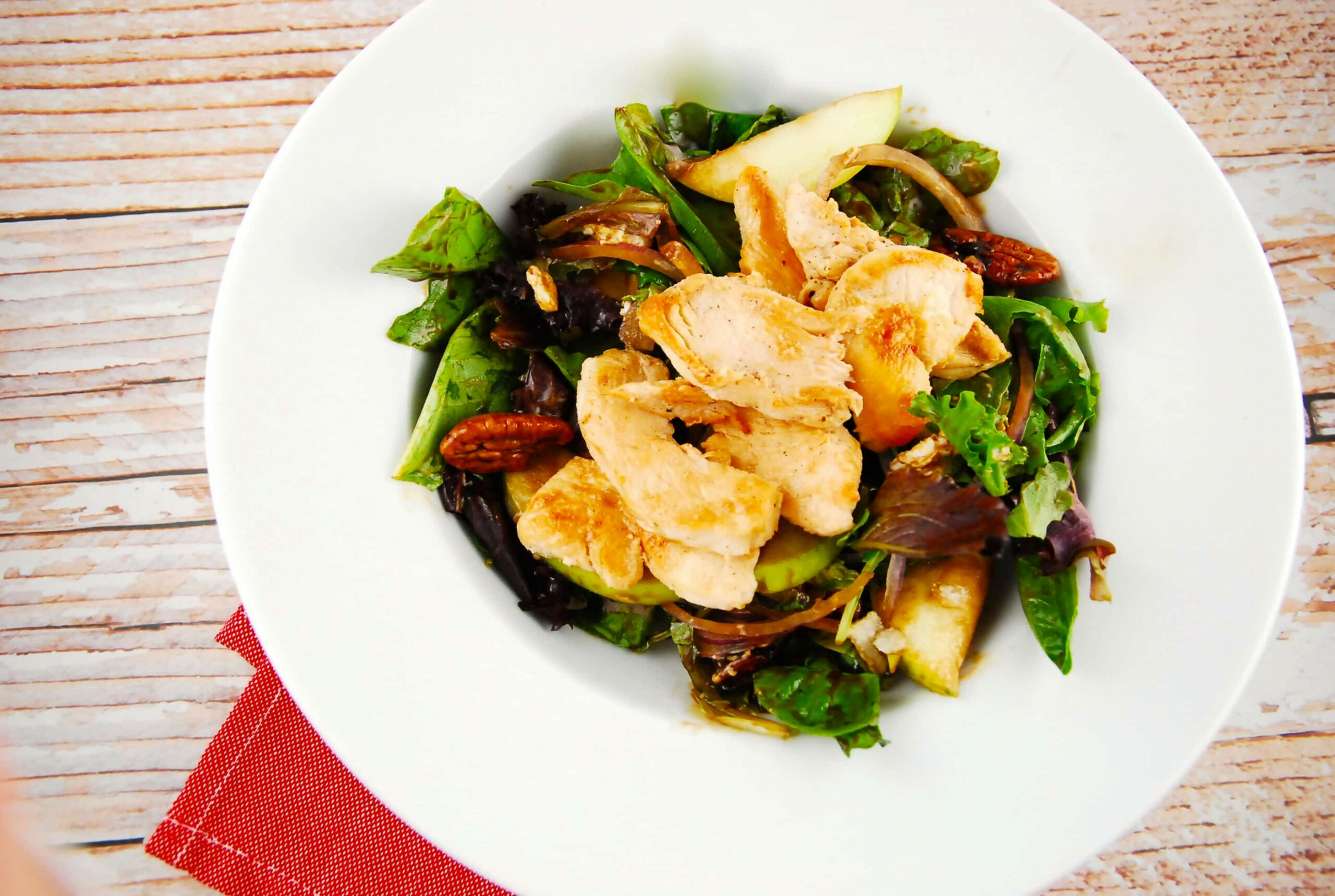 Grilled Chicken, Pear, and Candied Pecan Salad - waitrose recipes chicken