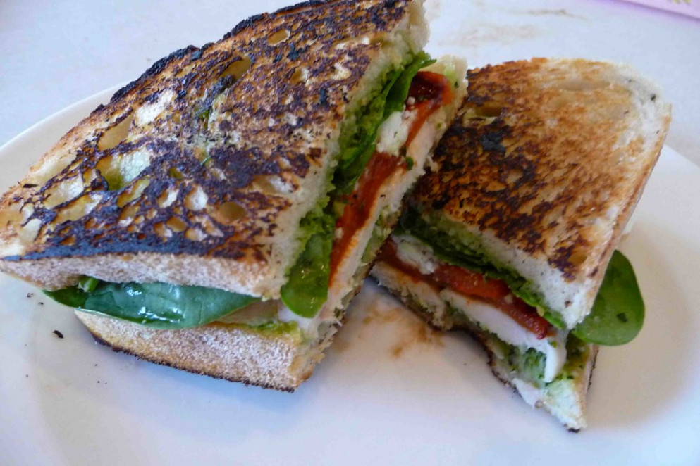 Grilled Chicken & Pesto Panini - recipes pesto chicken